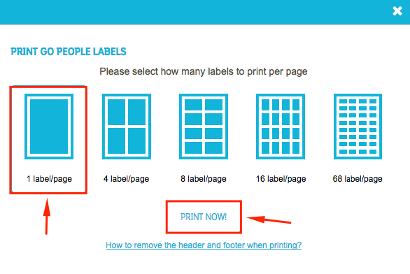 How To Print A Label | Go People