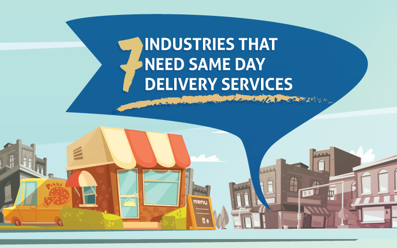 Industries that Need Same Day Delivery Services Blog Banner