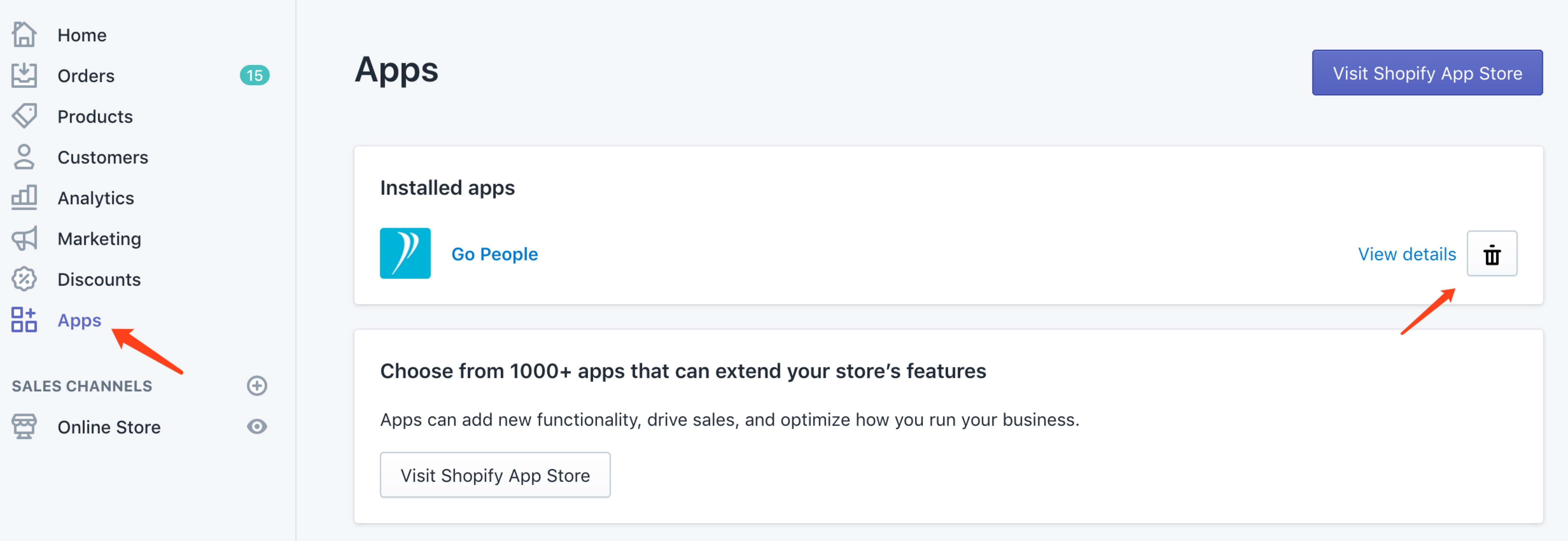 How To Install or Uninstall The Go People Shopify Plugin - Go People