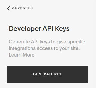 generate key button